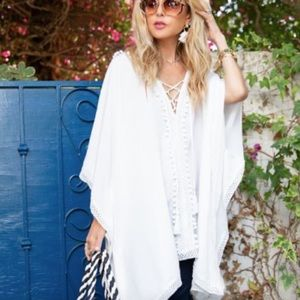 BINDYA NEW YORK Lace Up Swim Coverup